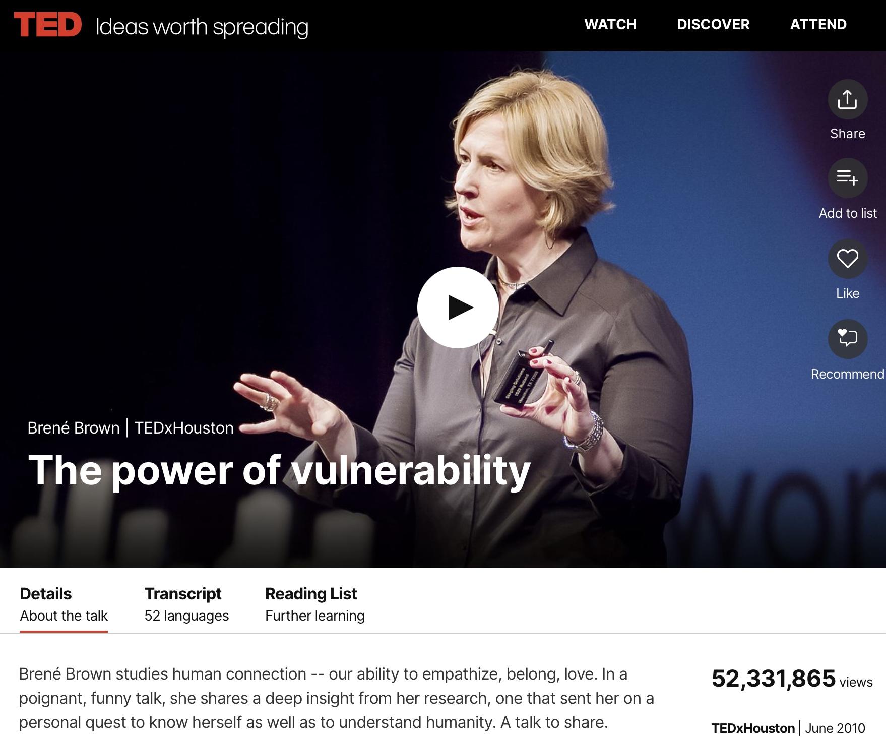 Videoclipauszug Webseite TED Talk